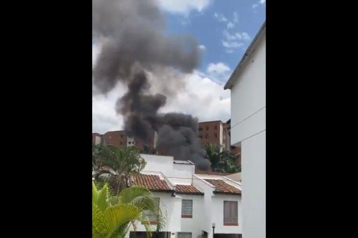 Incendio en el Edificio Sol de Plata en la avenida Las Vegas