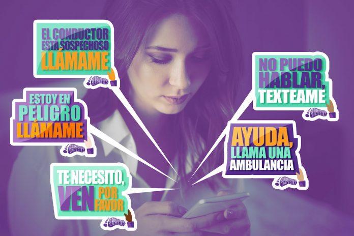 Mujer: en caso de peligro use el sticker de WhatsApp