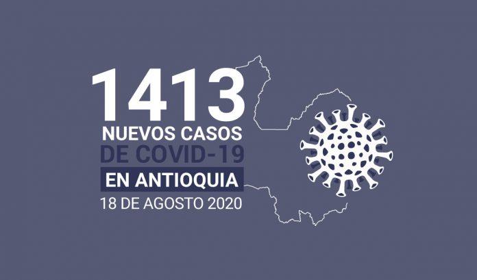 casos covid-19 en Antioquia el 18 de agosto