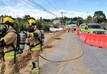 Fuga de gas en Rionegro sector Tutucán