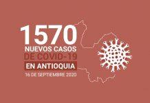 Nuevos casos de COVID-19 en Antioquia este miércoles 16 de septiembre