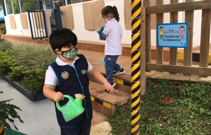 Modelo burbuja: así volvieron los niños al jardín El Encuentro