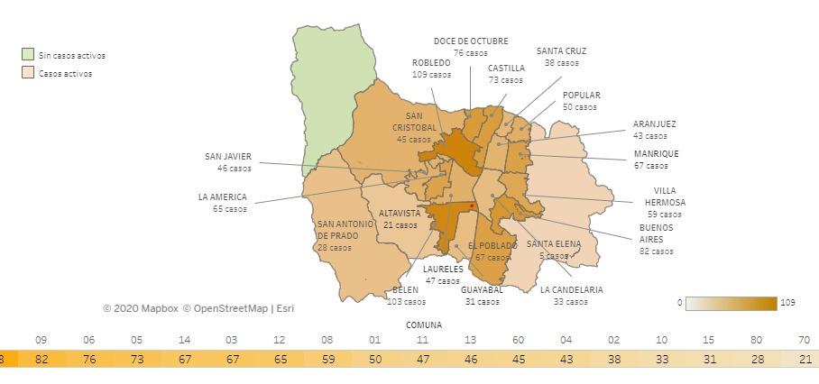 2020-10-16 Reporte COVID Medellín Mapa