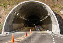 Cierre en el Túnel de Oriente