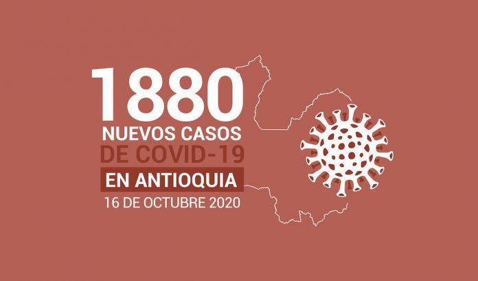 Reporte de nuevos casos de covid 19 en antioquia 16 DE OCTUBRE