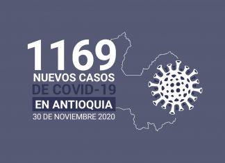 Nuevos casos de COVID-19 en Antioquia este lunes 30 de noviembre