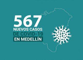 Casos de COVID-19 en de Medellín 24 noviembre