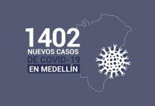 Reporte de nuevos casos de covid19 en Medellín de 3 de noviembre