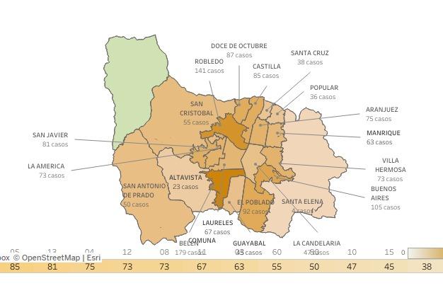 Covid Medellín noviembre 6 de 2020