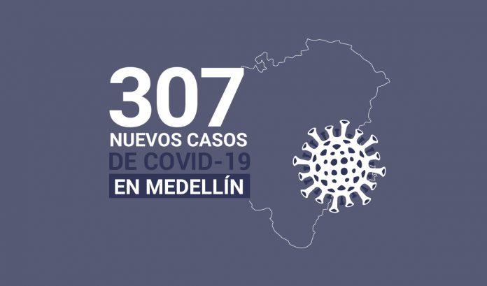 Registro de casos de COVID-19 en Medellín este martes 10 de noviembre