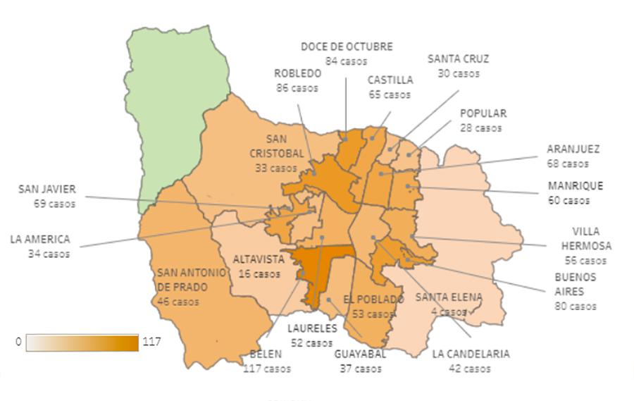 Casos de covid-19-en-barrios Medellín 10 de Noviembre