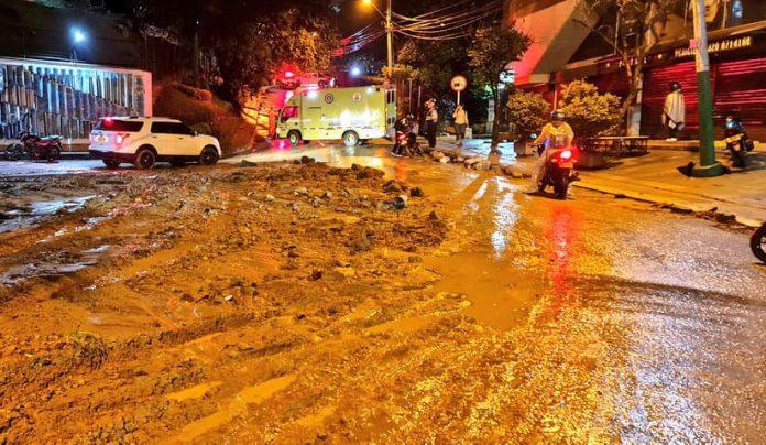 inundación en la Loma del Indio, en El Poblado