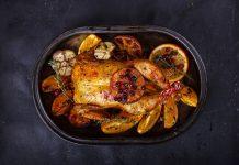 La mesa navideña también puede prepararse con pollo