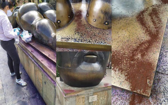 Dañaron algunas esculturas de Botero- Cortesía Museo de Antioquia