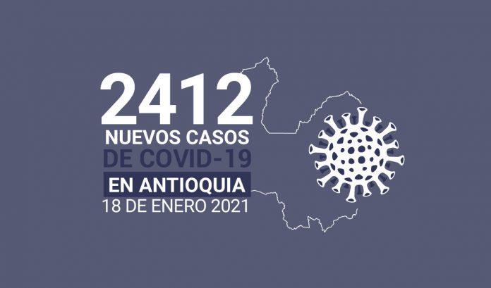 Casos de COVID-19 en Antioquia enero 18