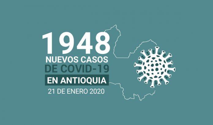Casos de COVID-19 en Antioquia enero 21