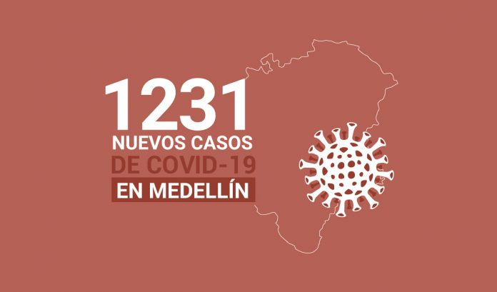 casos de COVID-19 en Medellín este lunes 18 de enero