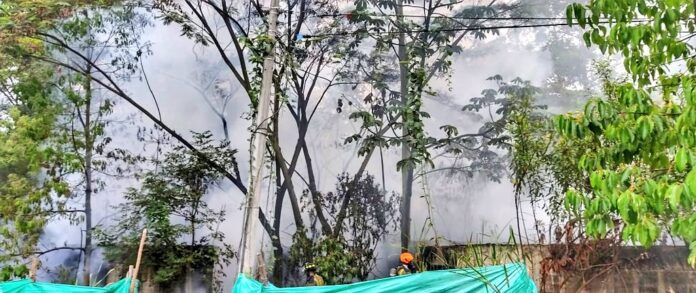 Control de incendio generado por quema de basura