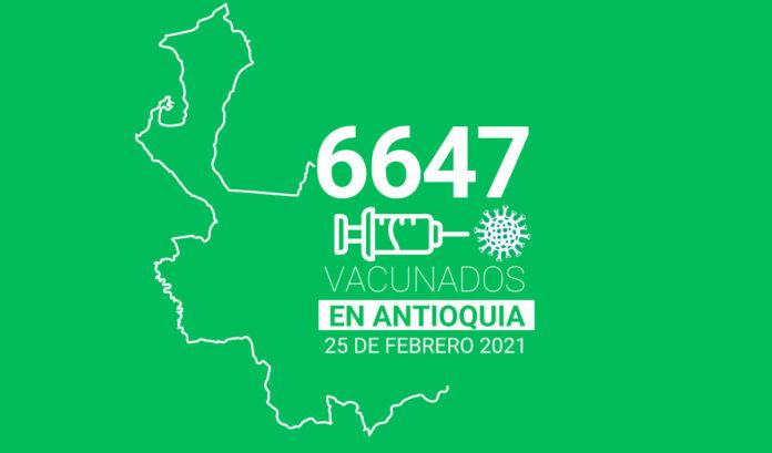 Vacunados contra la COVID-19 en Antioquia este 25 de-febrero
