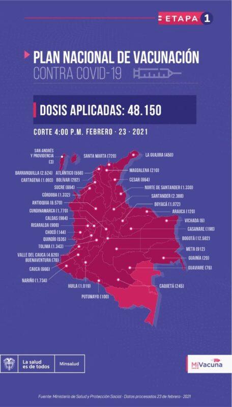 La vacunación en Colombia inició en el Hospital General de Medellín