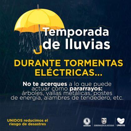 Campaña pedagógica Gobernación de Antioquia temporada de lluvias