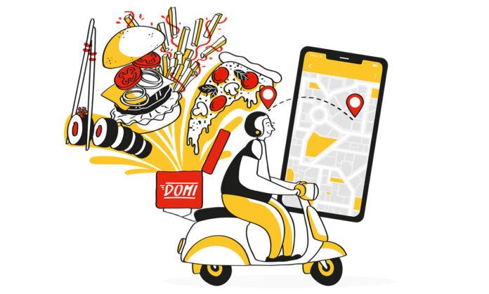 ¿Cuál fue el top de domicilios mas pedidos de hamburguesas, pizzas y sushis en Medellín?