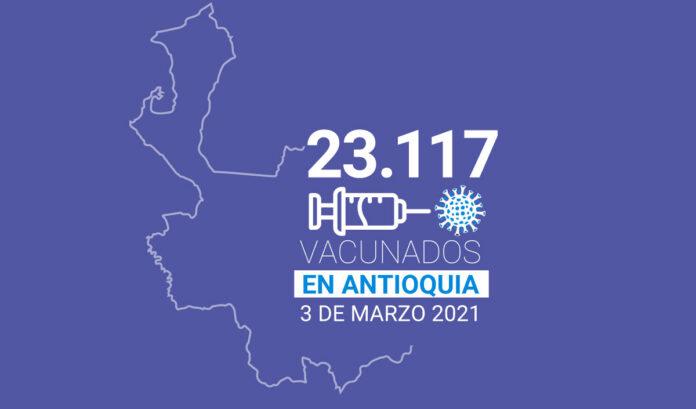 cómo va la vacunación en Antioquia Al 3 de marzo