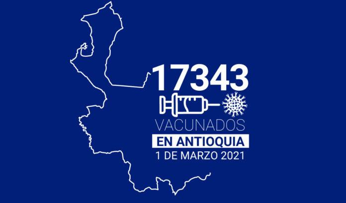 En Antioquia ya se han aplicado 17.343 vacunas contra el COVID-19