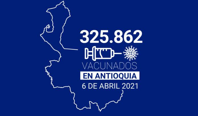 325.862 dosis aplicadas, balance de vacunación en Antioquia