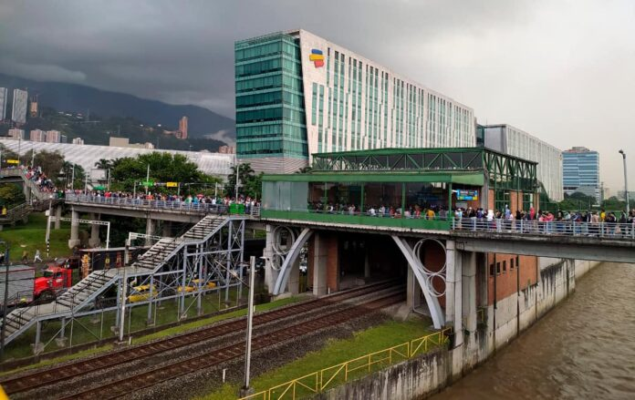 Cierre de algunas estaciones del Metro de Medellín por las manifestaciones
