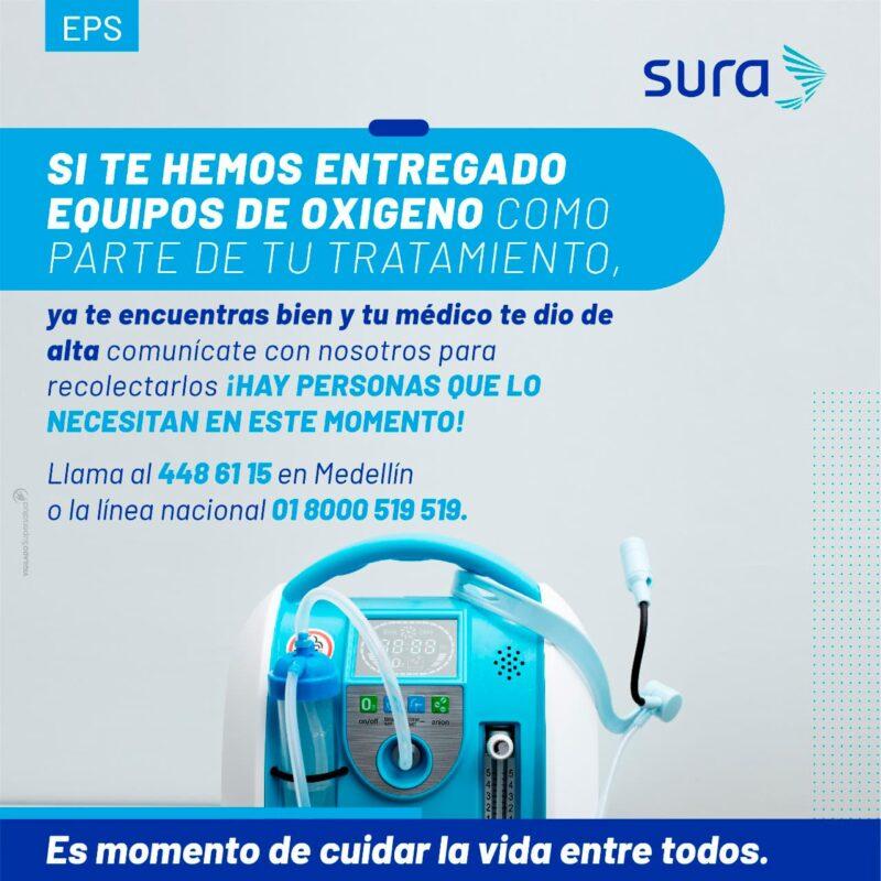 Llamado urgente de la Gobernación de Antioquia: hay que optimizar concentradores y balones de oxígeno