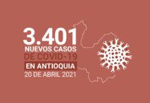 Casos de COVID19 en Antioquia este miércoles 20 de abril