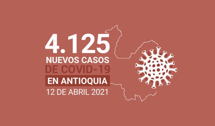 Nuevos contagios de COVID19 para Antioquia este lunes 12 de abril
