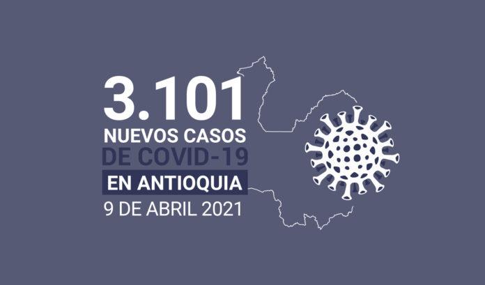 Antioquia superó los 400.000 contagios acumulados de COVID19 este viernes 9 de abril