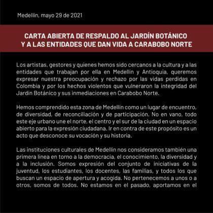 """Respaldo al Jardín Botánico: """"Esta zona de Medellín es un lugar de encuentro"""""""