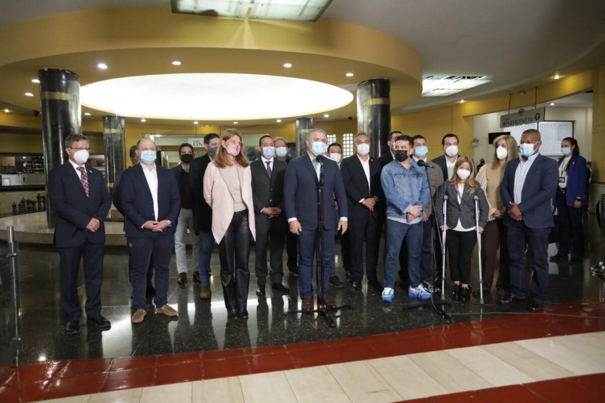 Mesa de Diálogo Nacional entre el presidente Iván Duque y los gobernadores
