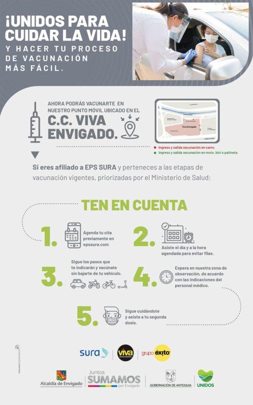Vacunación Multivehicular  en Viva Envigado