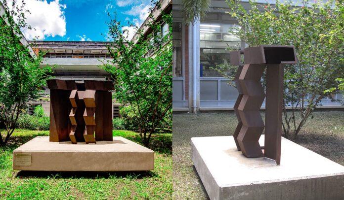 Eduardo Ramírez Villamizar en el Museo Abierto de la Universidad de Antioquia