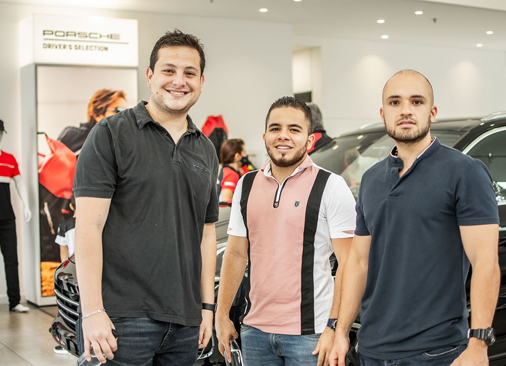Juan Diego Vargas, Nicolás Galeano y Pablo Aristizábal