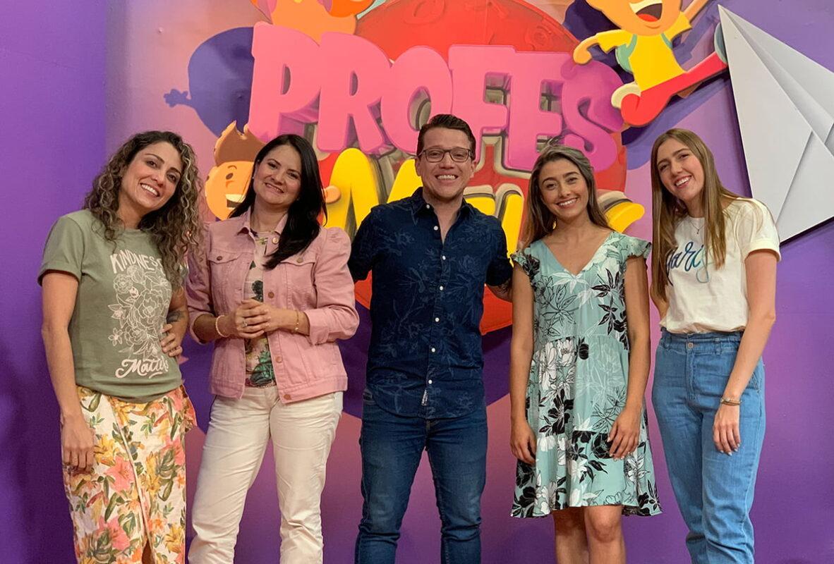 Los rostros de los 5 profes que buscan despertar el amor por aprender en los niños de Antioquia, a través de las pantallas de su televisor. Foto cortesía.