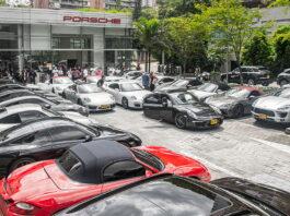 41 Porsche en un solo tour en Medellín