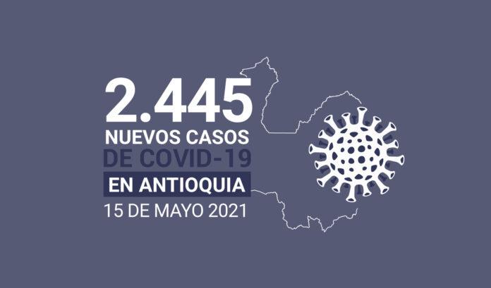 Antioquia acumula 687.408 contagios de COVID19 al 15 de julio