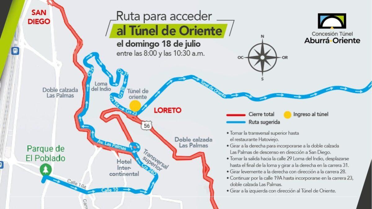 Cierre Total de la Avenida Las Palmas el 18 de julio