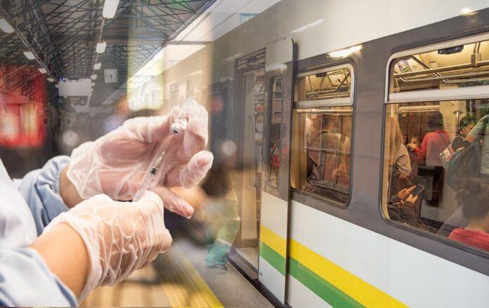 En la estación Poblado del Metro inicia la vacunación contra el COVID19