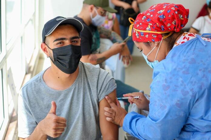 Vacunación de mayores de 12 años en Colombia