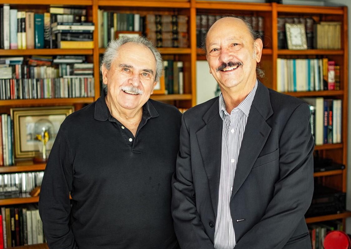 A la izquierda, Laureano Forero;  y a la derecha, León Restrepo.