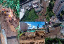 Obras en la quebrada El Indio en la vía Las Palmas en El Poblado