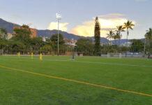 El Politécnico Jaime Isaza Cadavid estrena gramado sintético en su cancha de fútbol
