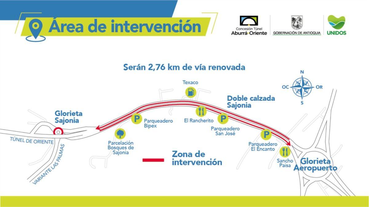 Inician trabajos de repavimentación y mantenimiento en la vía Sajonia - Aeropuerto José María Cordova