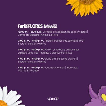 Feria de las Flores llega al parque El Poblado